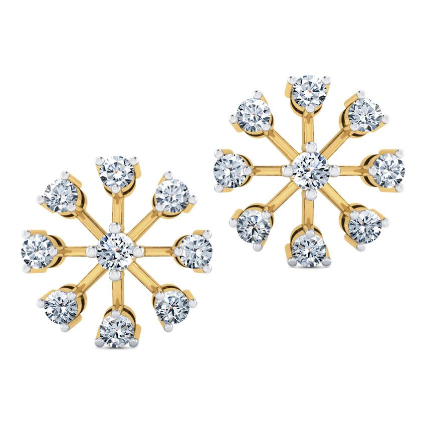 Contemporary Nine-Stone Diamond Studs.