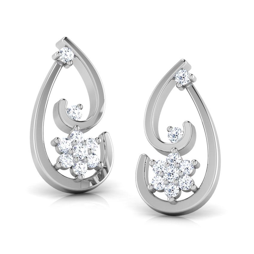 Spiral Star Stud Earrings