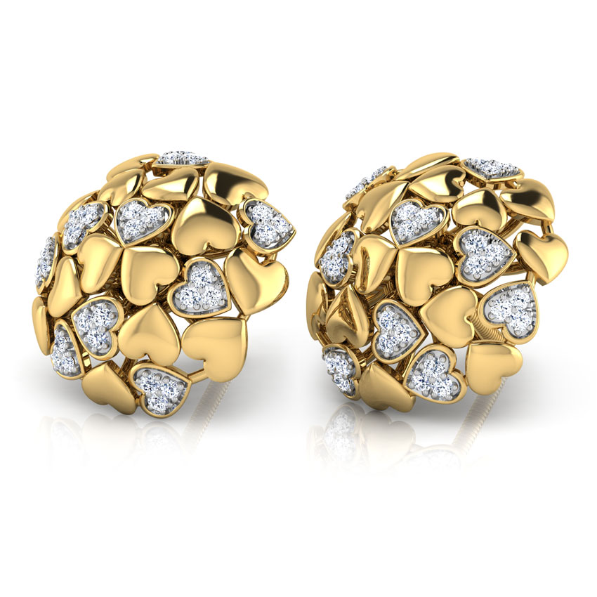Heart Burst Stud Earrings