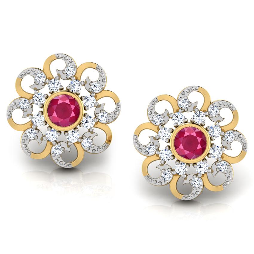 Surya Floral Stud Earrings