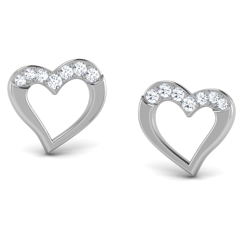 Meher  Gold Earrings in 14KT White Gold