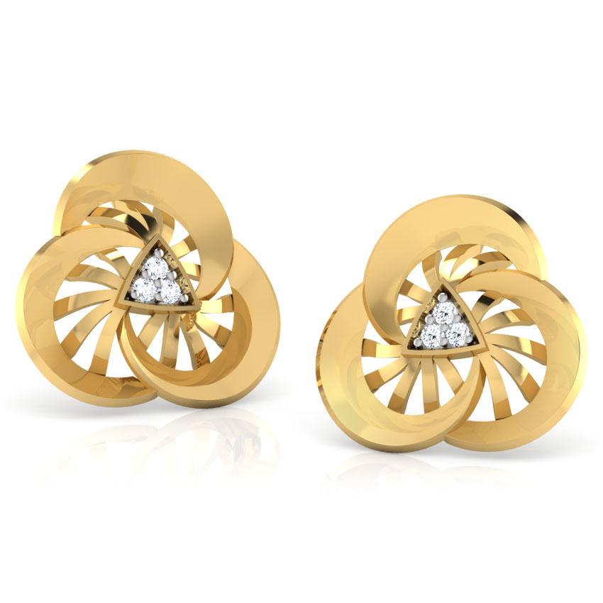Wheeling Diamond  Earring