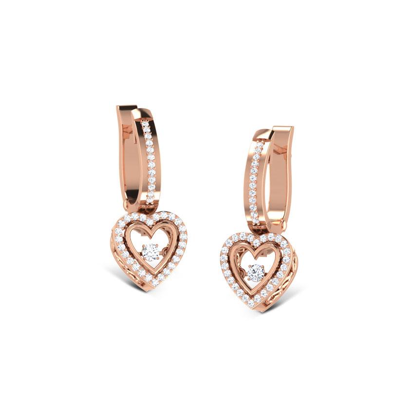 Gillian Heartbeat Diamond Drop Earrings