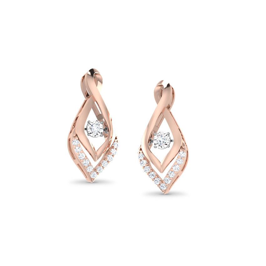 Fannie Heartbeat Diamond Stud Earrings
