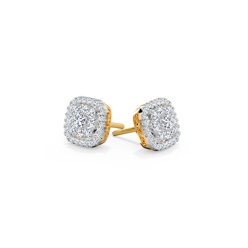 Glitzy Stud Earrings