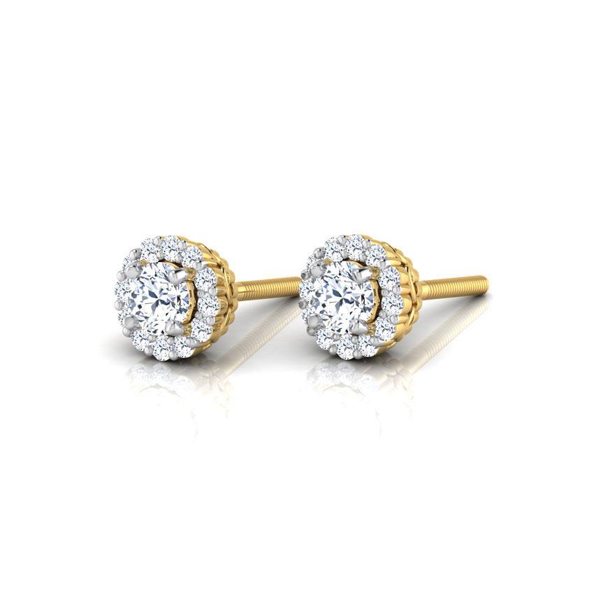 Naksha Halo Stud Earrings