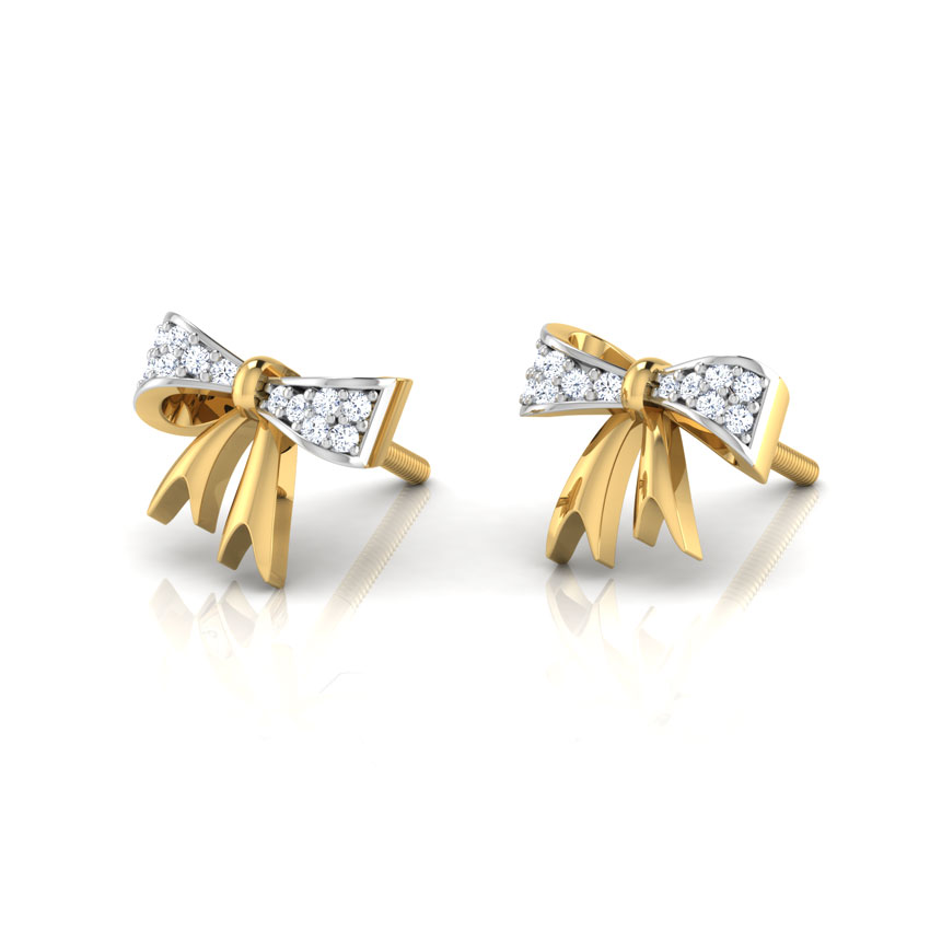 Bow Knot Stud Earrings