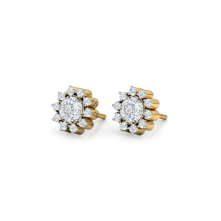Sun Cluster Stud Earrings