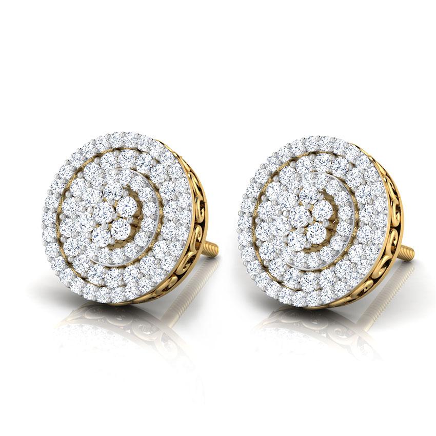 Rosa Halo Stud Earrings