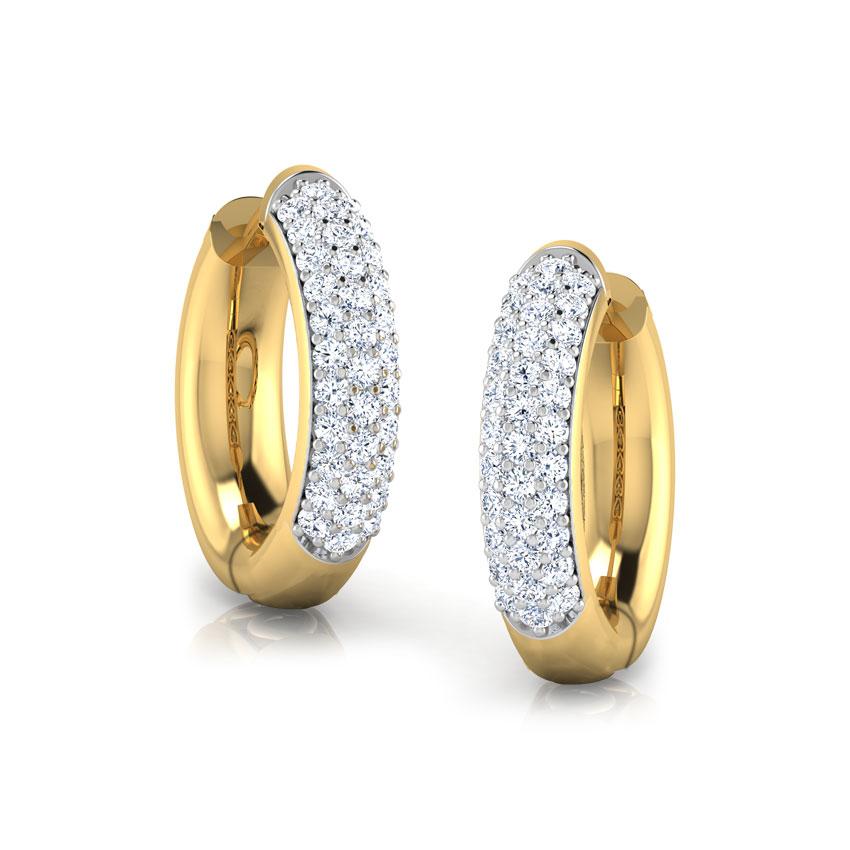 Diamond Earrings 18 Karat Yellow Gold Lise Diamond Hoop Earrings