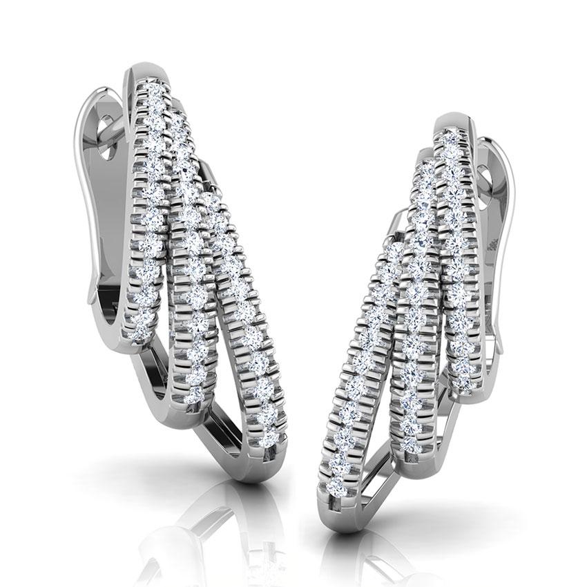 Triple Curve Hoop Earrings