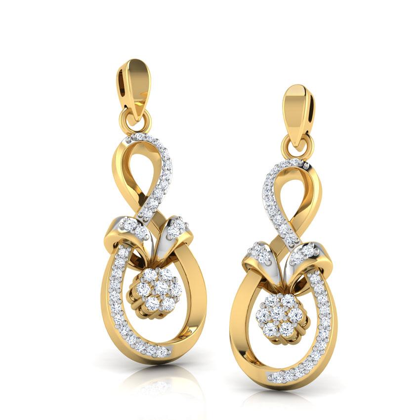 Diamond Earrings 14 Karat Yellow Gold Gaiety Diamond Drop Earrings