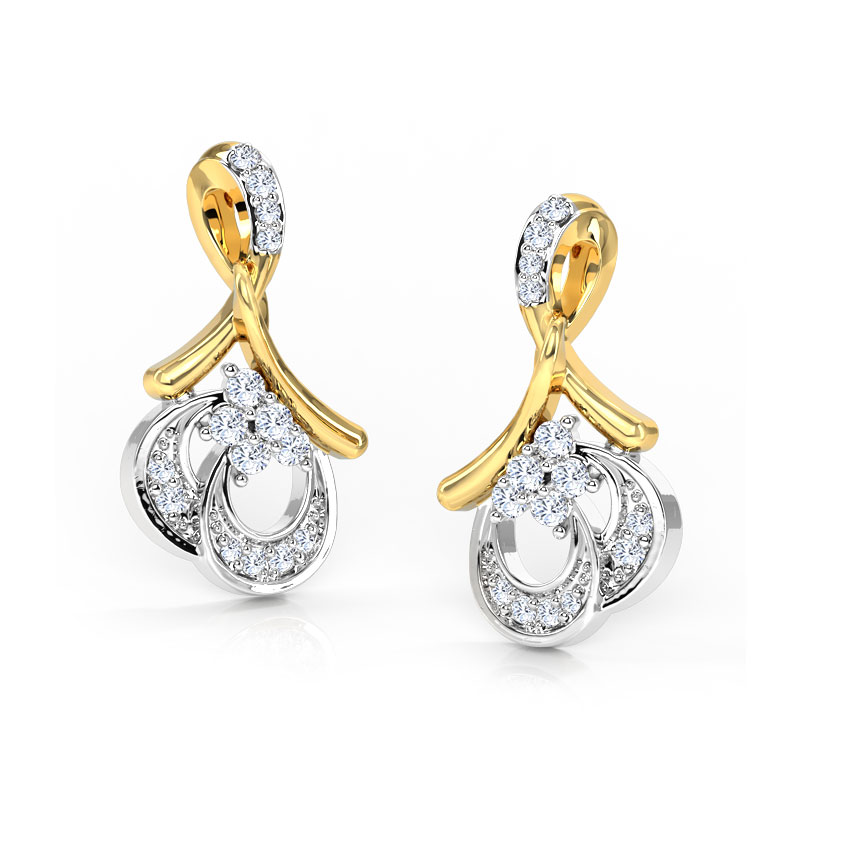 Twisted Knot Diamond Stud Earrings