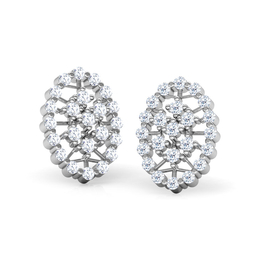 Diamond Earrings 18 Karat White Gold Chandelier Diamond Stud Earrings