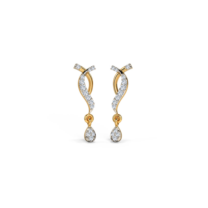 Platinum,Diamond Earrings Platinum 950 Platinum Sangamini Diamond Drop Earrings