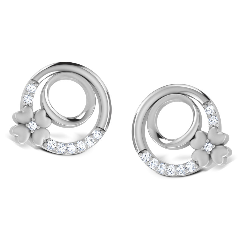 earrings lar platinum india jewellery circo com caratlane online dame