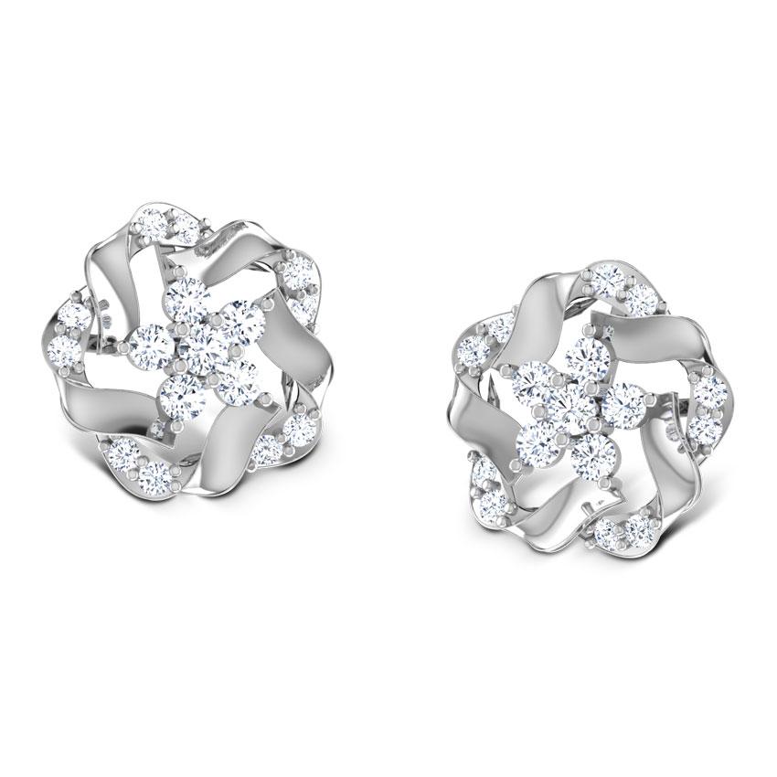 Geranium Platinum Earrings