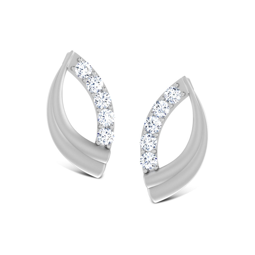 product stud platinum earrings setting round diamond prong