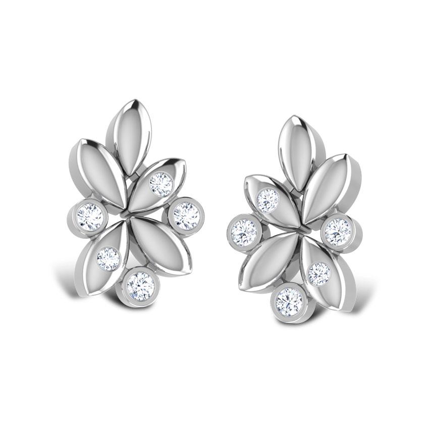 Pledge Platinum Stud Earrings