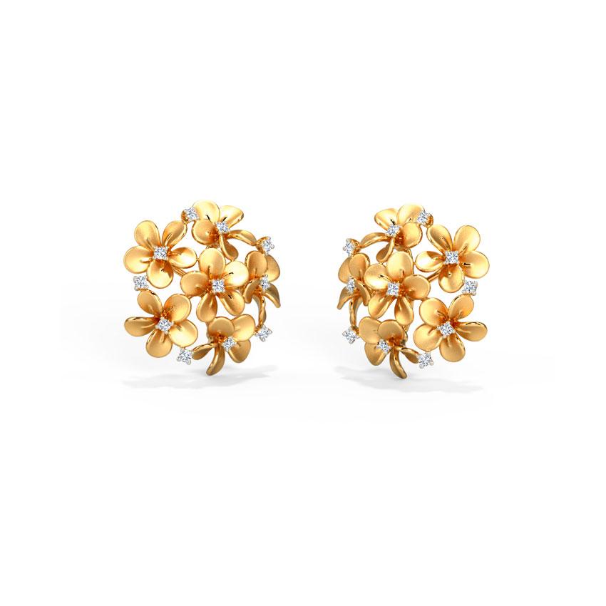 Plumeria Cluster Stud Earrings