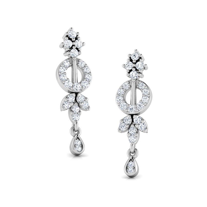 Diamond Earrings 18 Karat White Gold Hazel Diamond Stud Earrings