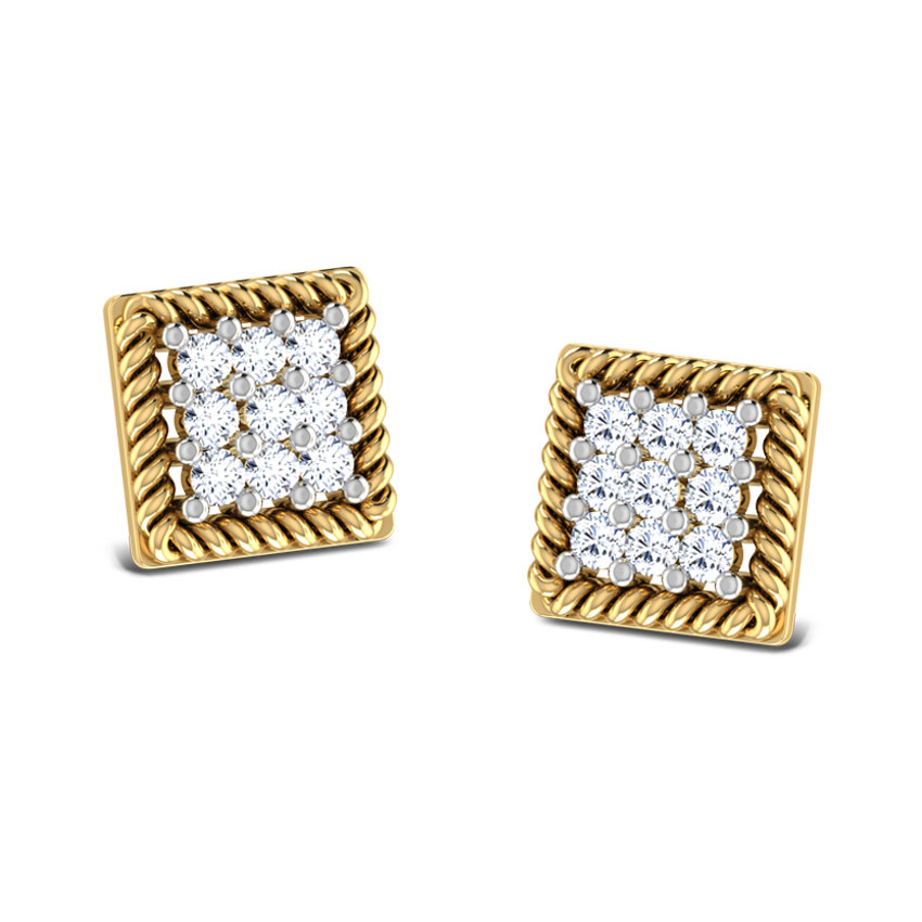 Rope Square Stud Earrings