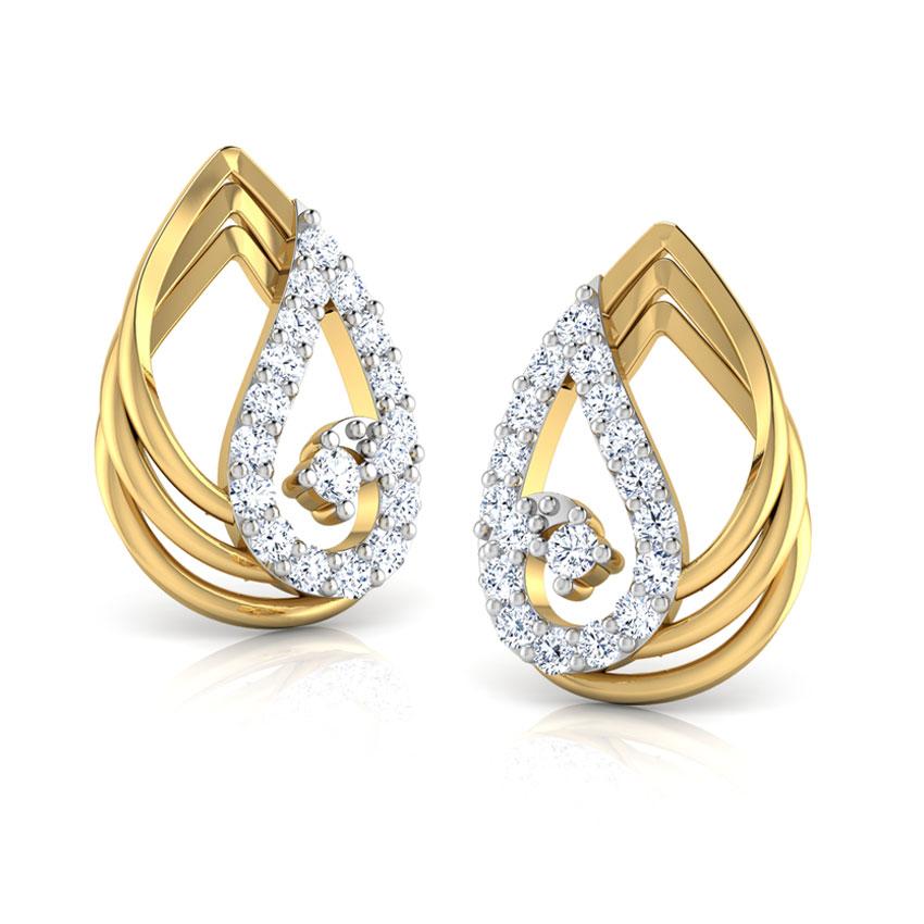 Duo-Style Stud Earrings