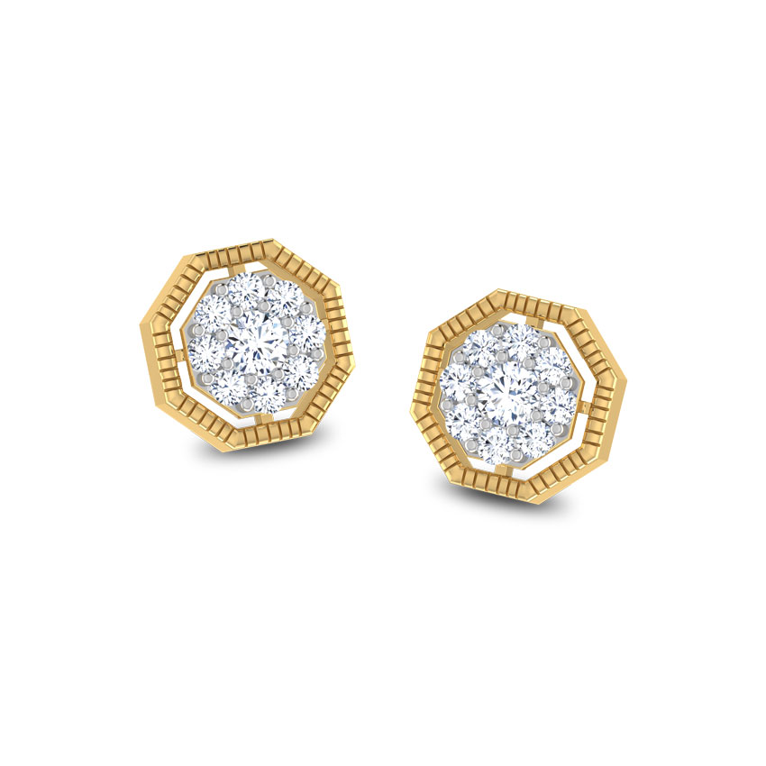 Rope Octagon Stud Earrings