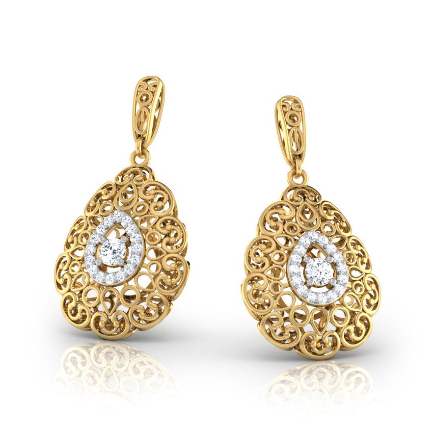 Doreen Trellis Drop Earrings