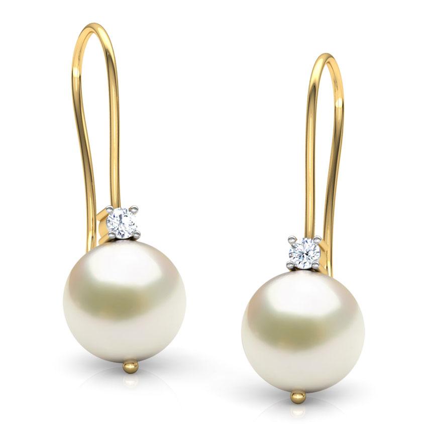 Snow Slide Pearl Earrings