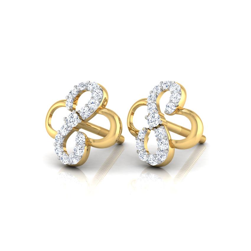 Esme Curved Stud Earrings