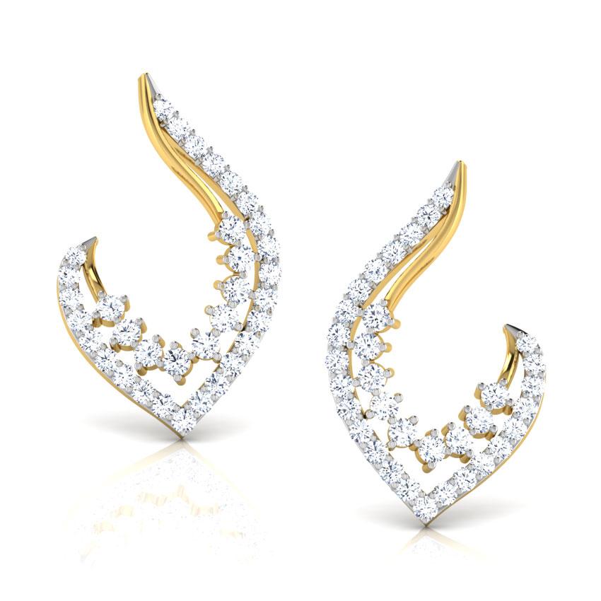 Beth Leaflet Stud Earrings