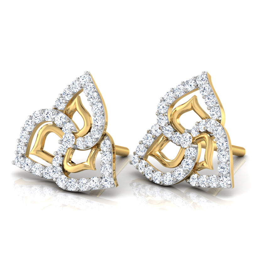 Lisa Petaled Stud Earrings