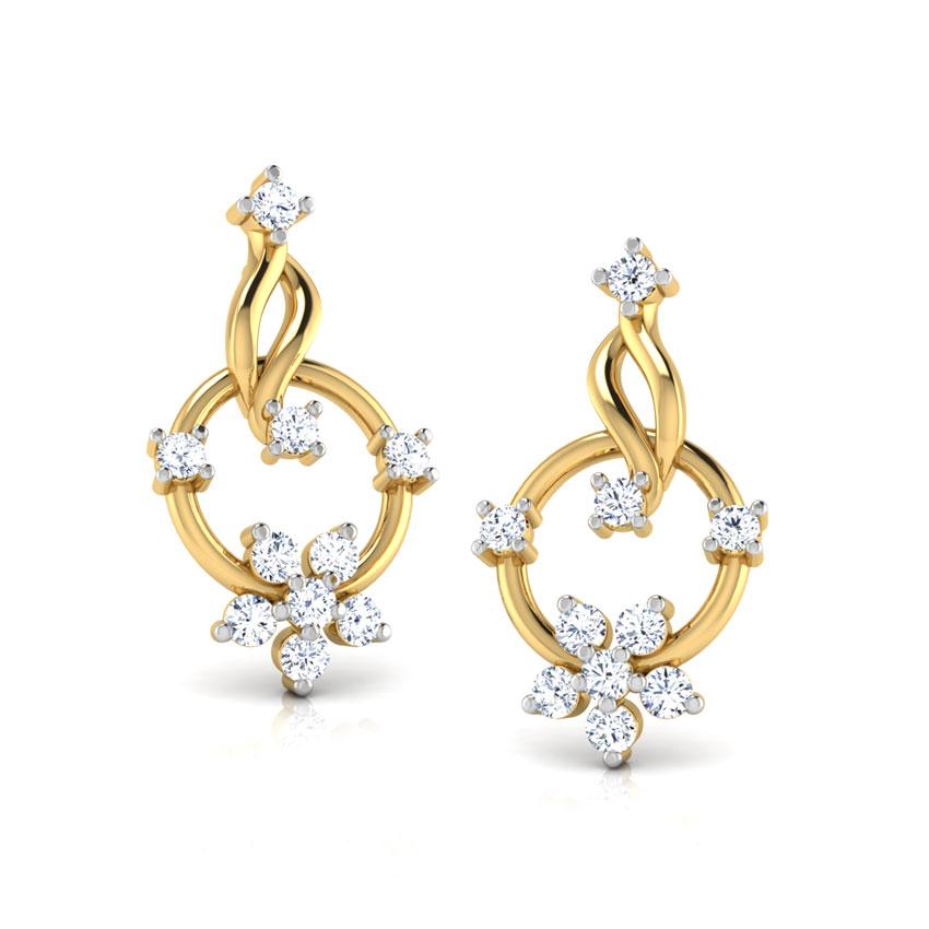 Circle Cluster Stud Earrings