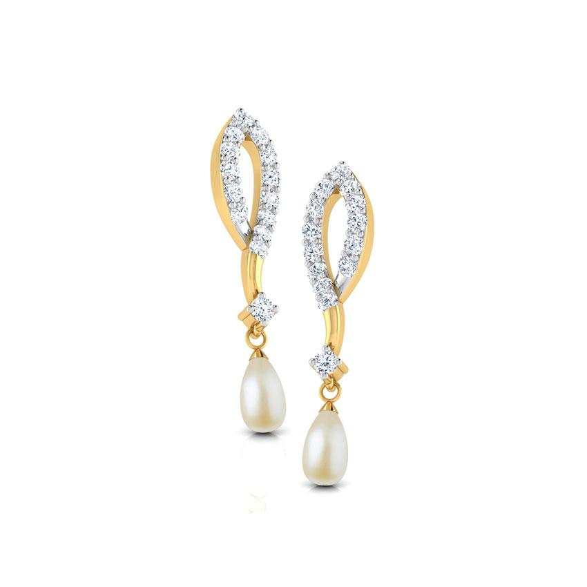 Petal & Pearl Drop Earrings