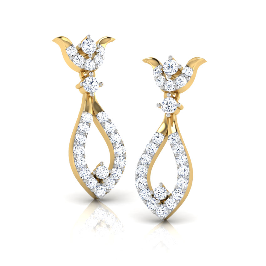 Ana Curved Drop Earrings