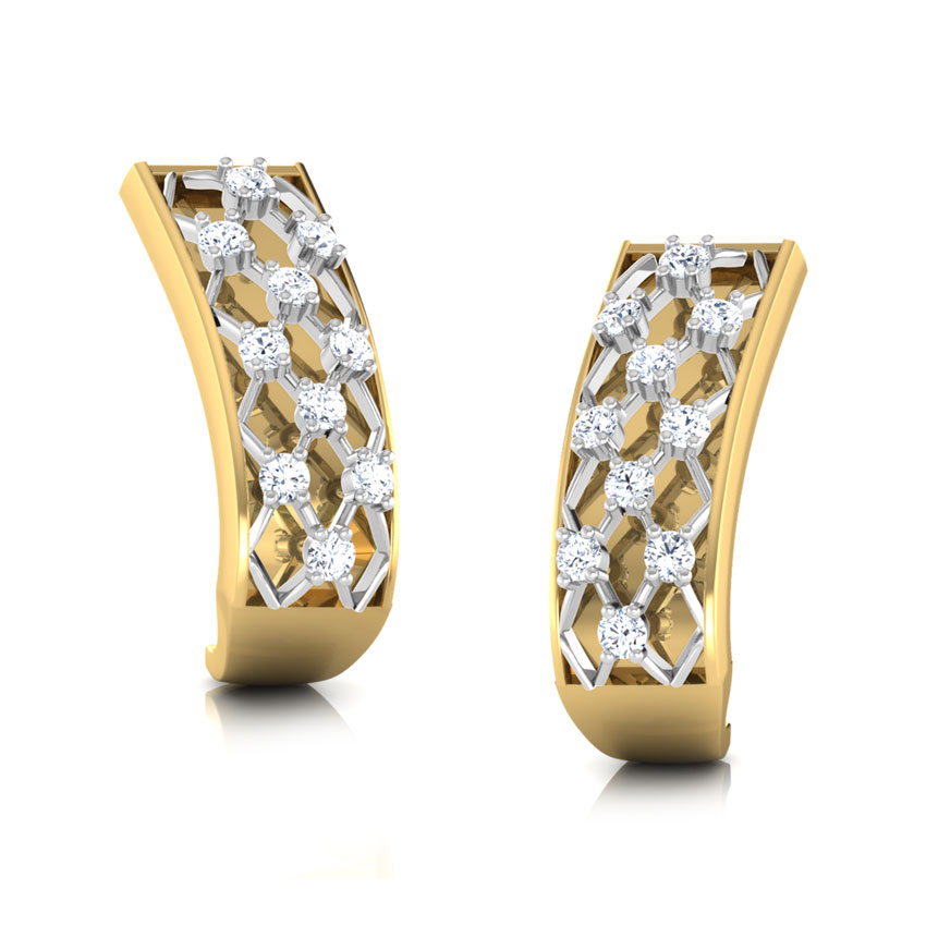 Lattice Hoop Earrings