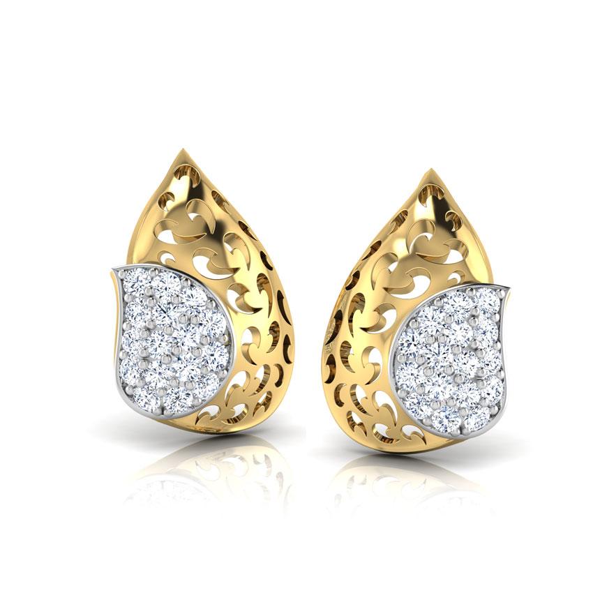 Glorious Paisley Stud Earrings