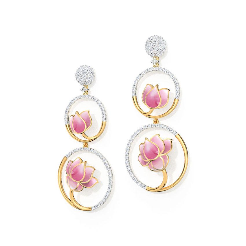 Lotus in a Pond Earrings