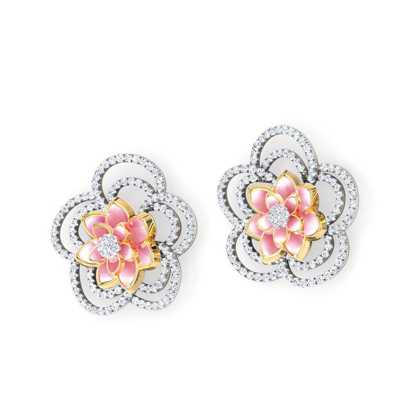 Sparkling Bloom Lotus Earrings