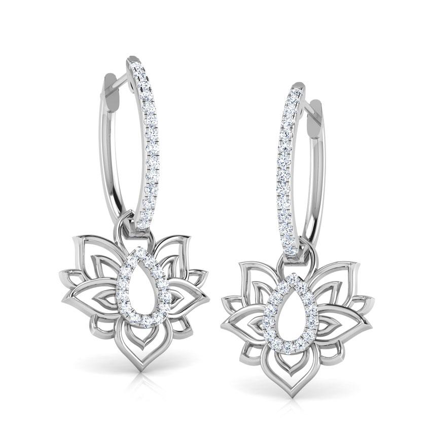 Looped Lotus Hoop Earrings