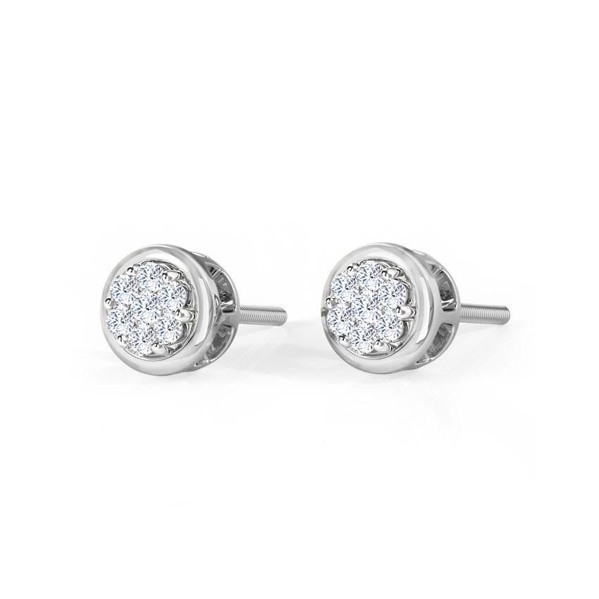 Lavani Full Moon Stud Earrings