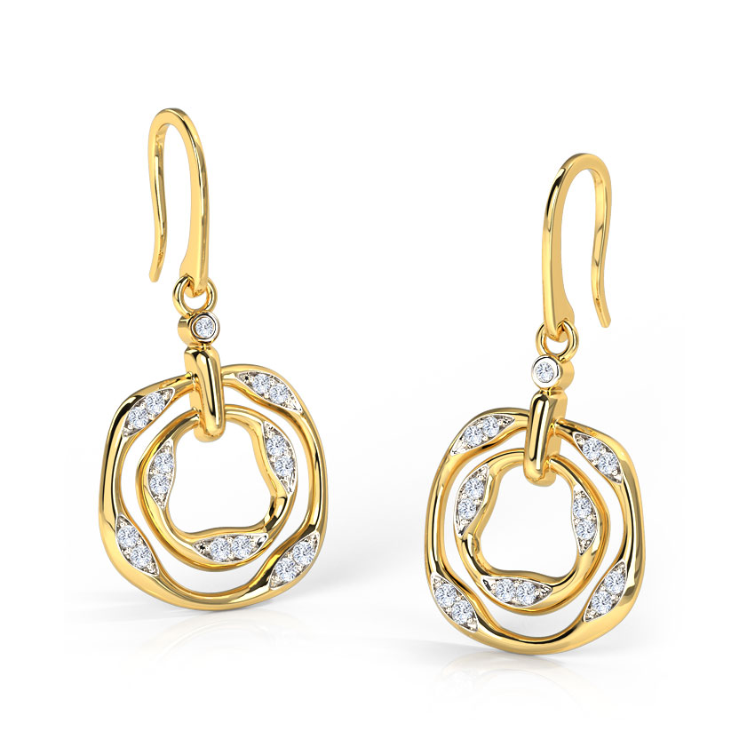 Madini Ripple Rings Drop Earrings