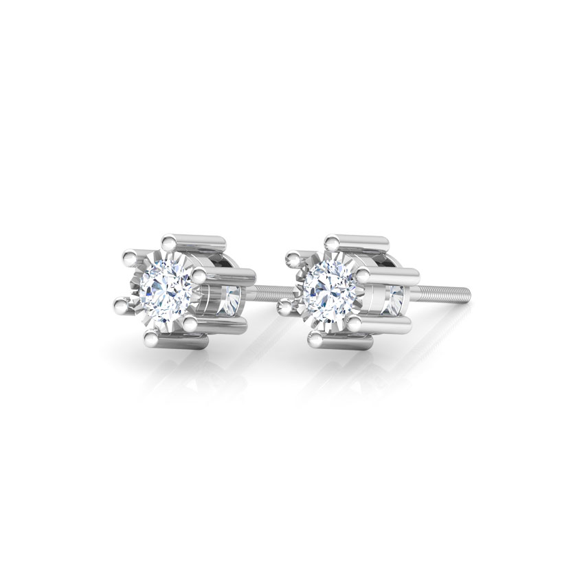 Glitter Miracle Plate Stud Earrings