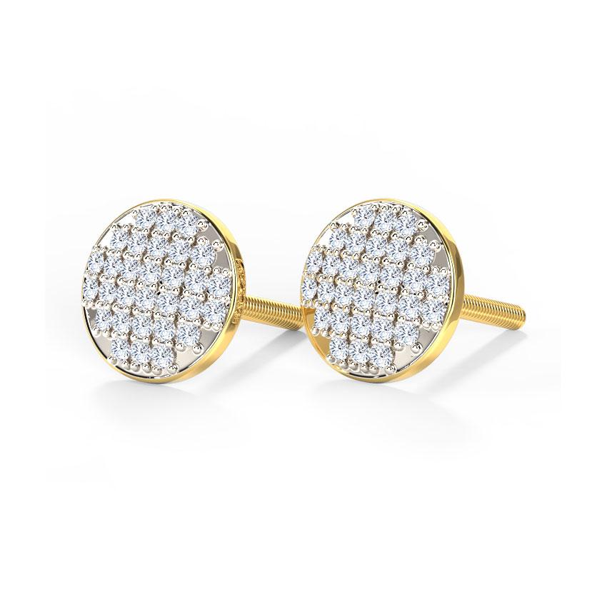 Emma Glitter Button Stud Earrings