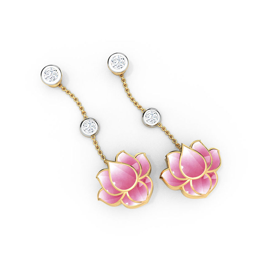 Dew Drops Lotus Earrings