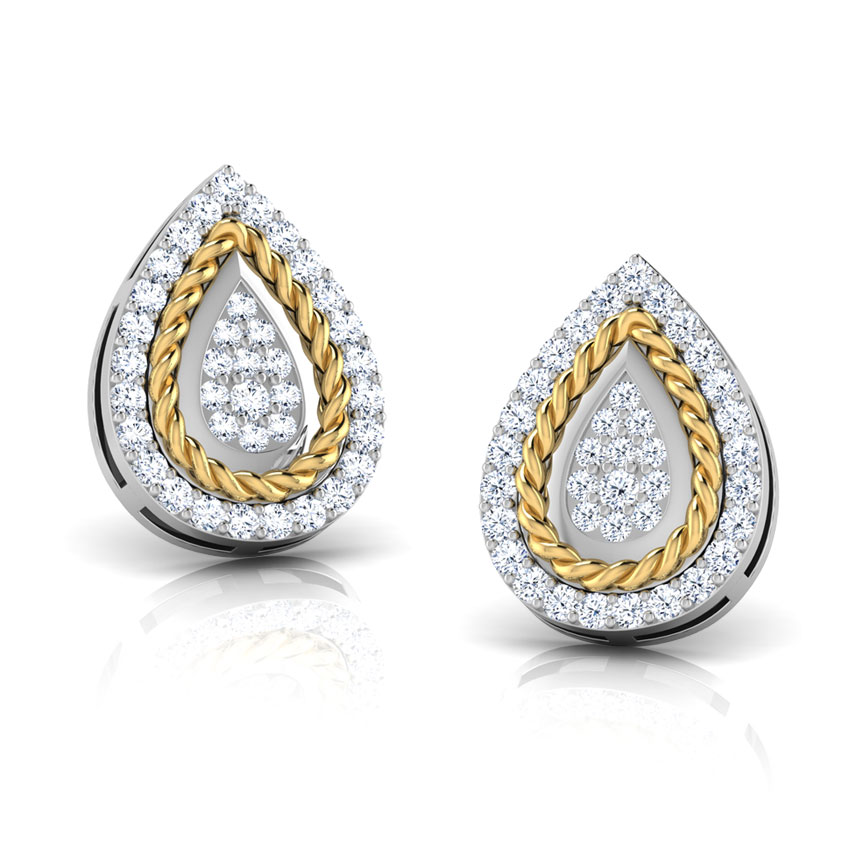 Olivia Filigree Pear Stud Earrings