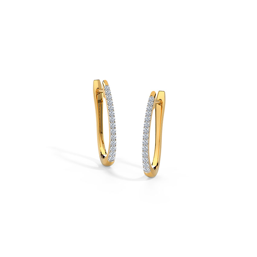 Scarlett Sparkle Diamond Hoop Earrings