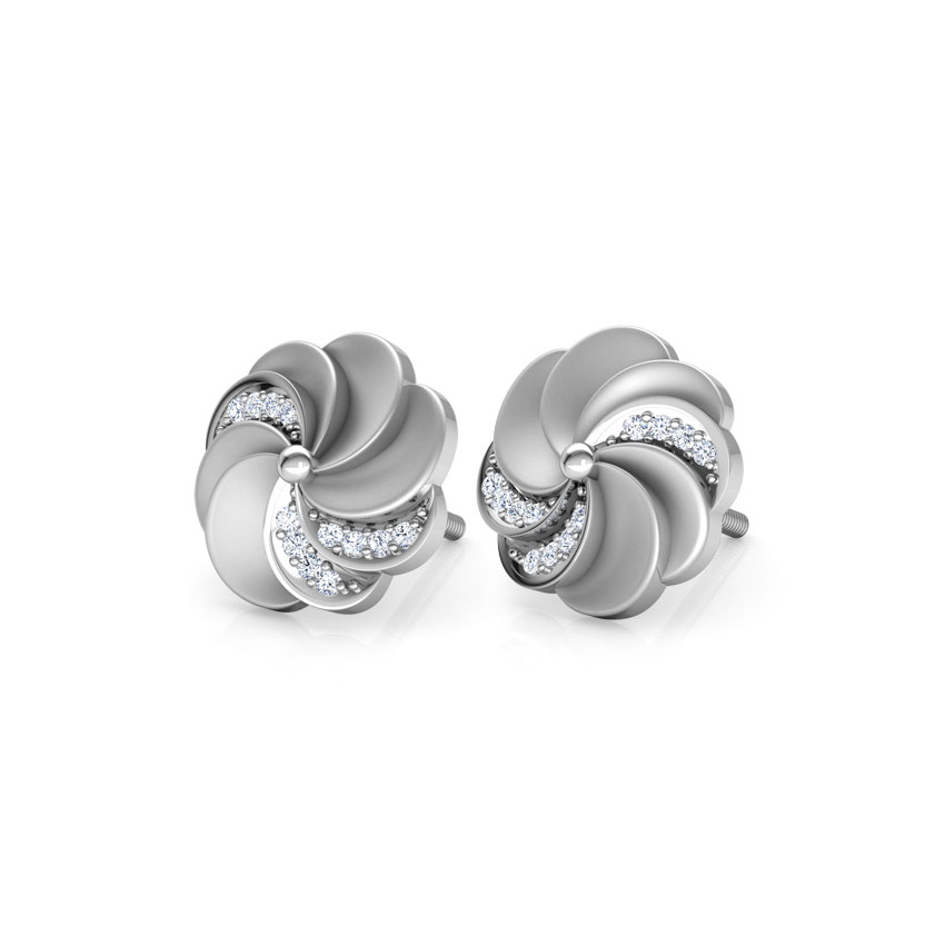 Estella Circular Ripple Stud Earrings