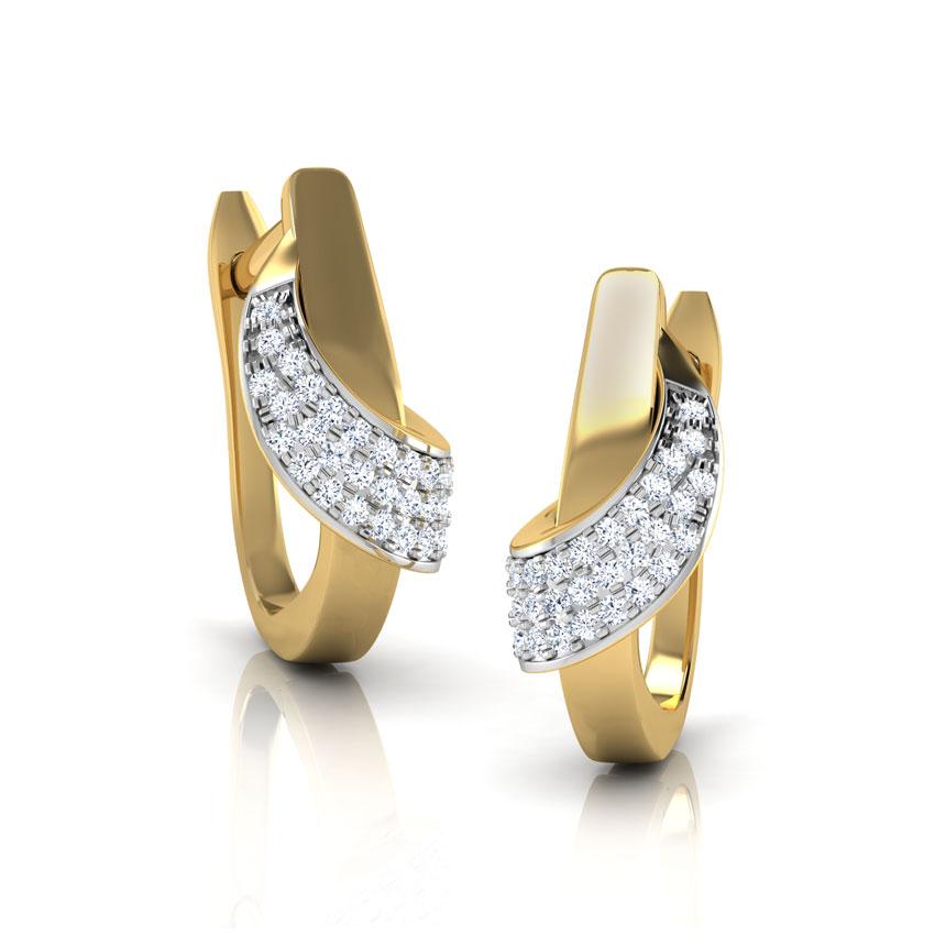 Kore Diamond Hug Earrings